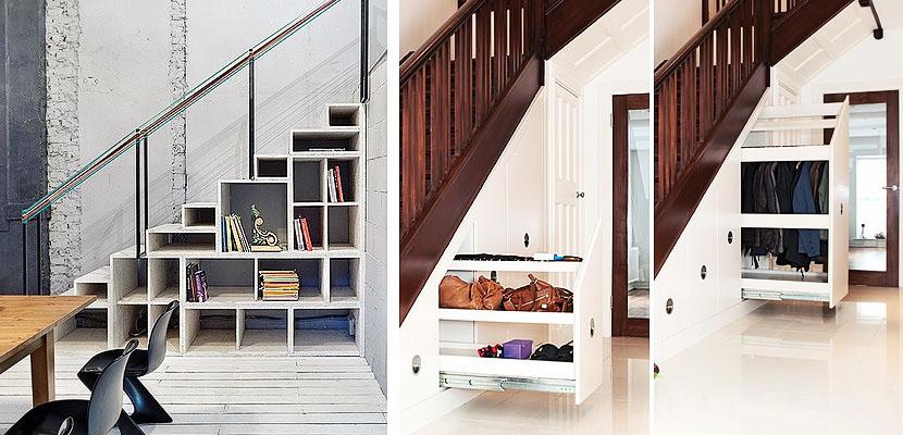 Almacenaje bajo escaleras 2 - Muebles en escalera ...